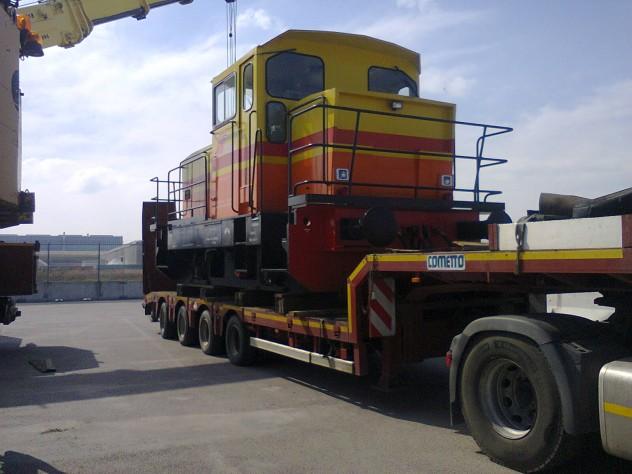 trasporto locomotiva demolizione auto